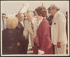 Governor and First Lady Clements greet the Governor of Puebla, Mexico, Alfredo Toxqui Fernandez de Lara and his wife during official visit, September 1980. Detail taken from e_cle_005829.